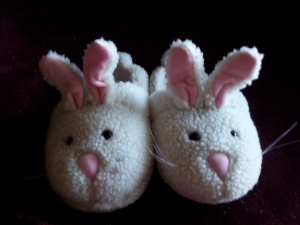 Rubber Ducky's Serious Bunny Slippers