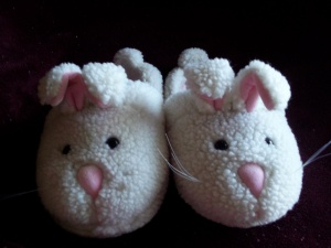 Rubber Ducky's Bunny Slippers