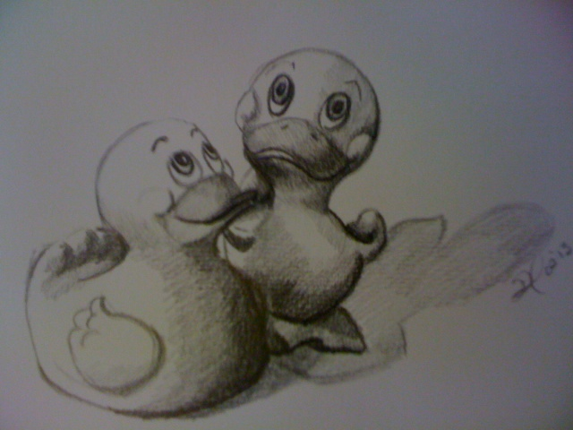I draw duckies, too.